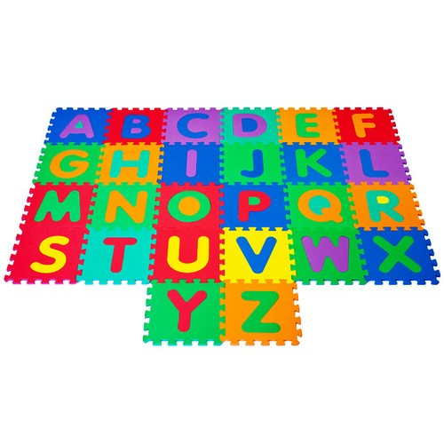 Interlocking Foam Tile Play Mat with Letters
