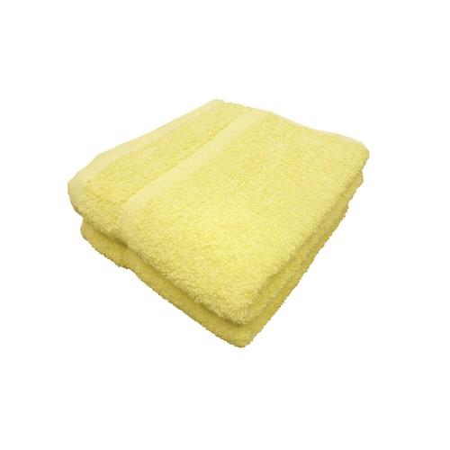 """Textiles Plus, 100-Percent Cotton 18"""" x 32"""" hand Towel Set of2 - lemon"""