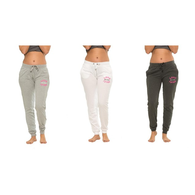 3-Pack Versace 1969 Italia Love Live Long Fitted Women Joggers