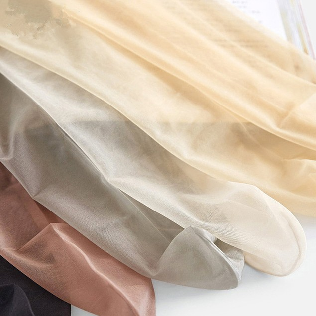 4Pcs Women's Ultra-Thin Pantyhose Invisible Anti-Snaking Color Random