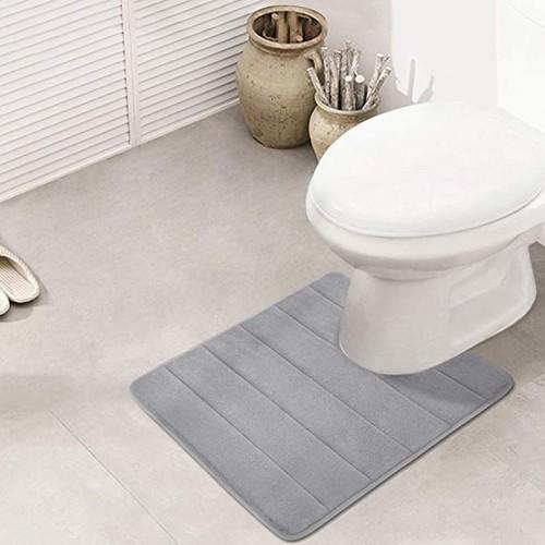 U-Shaped Toilet Mat Non Slip & Quick Drying Home Memory Foam Bath Rug
