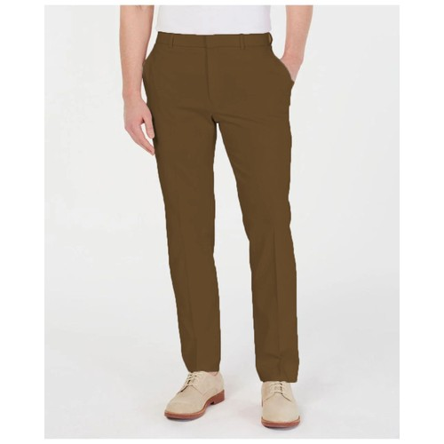 Tommy Hilfiger TH Flex Stretch Comfort Solid Performance Pants Brown 38x29