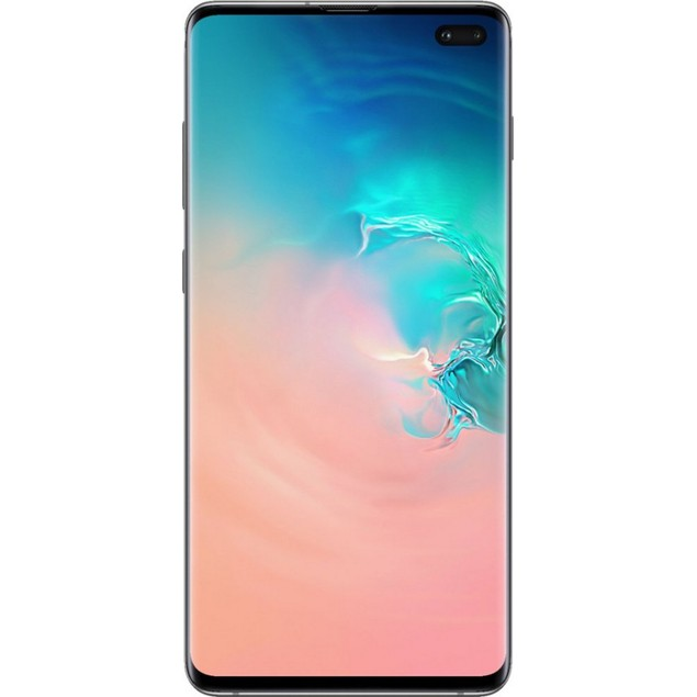 Samsung Galaxy S10+, AT&T, White, 1 TB, 6.1 in Screen