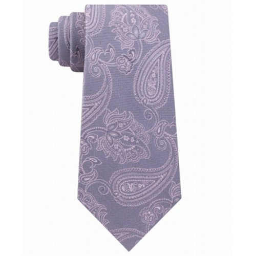 Michael Kors Men's Perfect Movement Paisley Tie Gray One Size