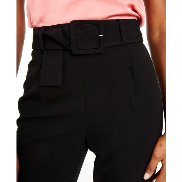 Bar III Women's Belted Pants Black Size 16
