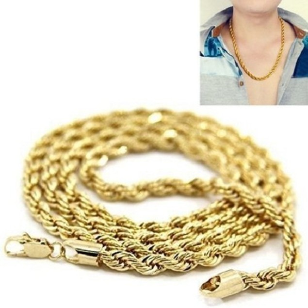 14k Gold Plated Rope Chain