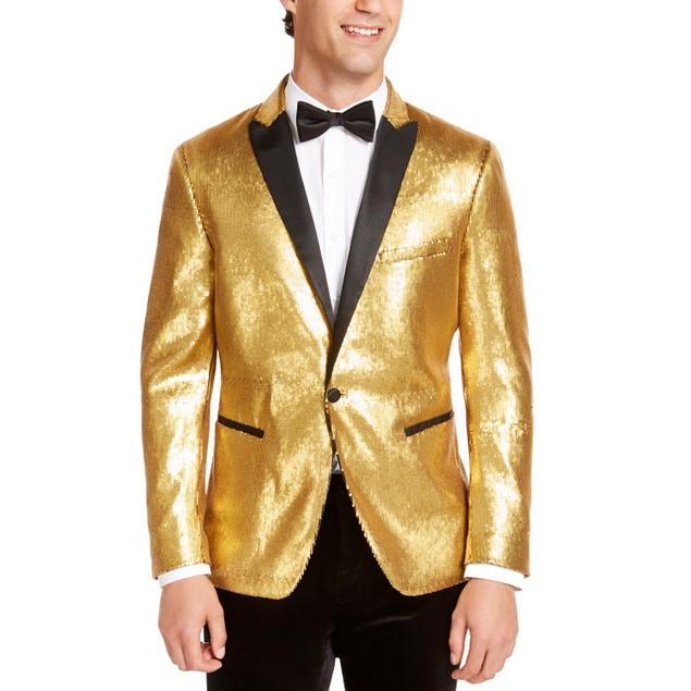 INC International Concepts Men's Slim-Fit Micro-Sequin Blazer Size Medium
