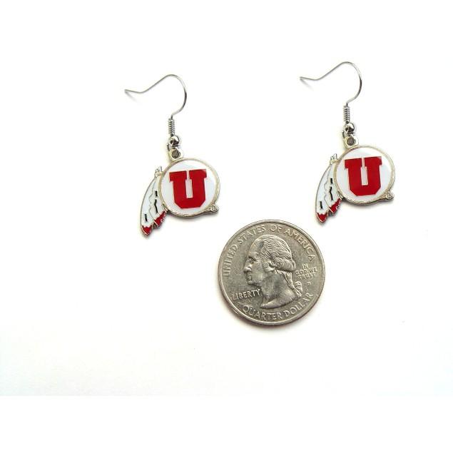 Utah Utes Ut Dangle Charm Earring Set NCAA