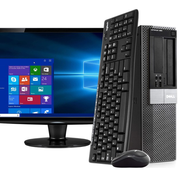 "Dell 980 Desktop Intel i5 8GB 500GB HDD Windows 10 Home 19"" Monitor"