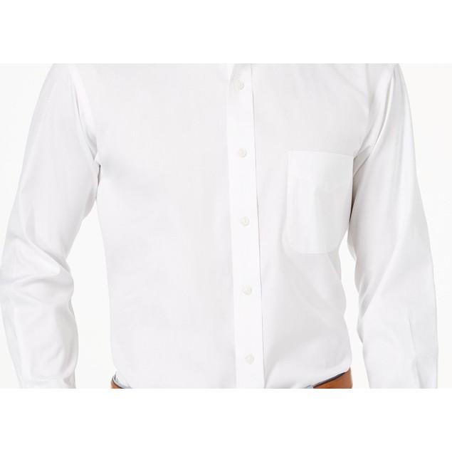 Club Room Men's Performance Button Up Dress Shirt White Size 37-38