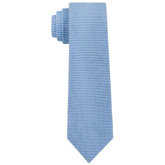 Calvin Klein Men's Micro Squares Skinny Silk Tie Navy Size Regular