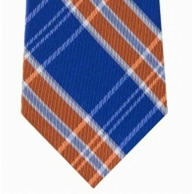 Tommy Hilfiger Men's Vincent Plaid Tie Orange Size Regular