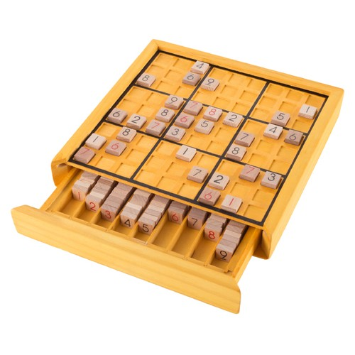 Wood Sudoku Board Game Set- Complete Set With Number Tiles