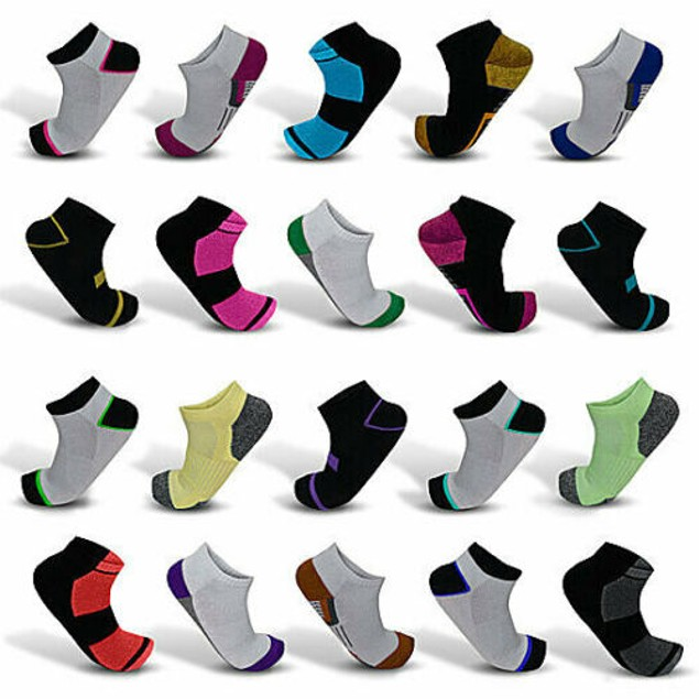 20-Pair Mystery Deal: Men's Elite Moisture Wicking Low-Cut Ankle Socks