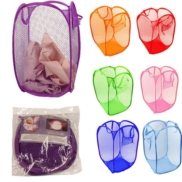 Foldable Pop-Up Laundry Hamper - Assorted Colors