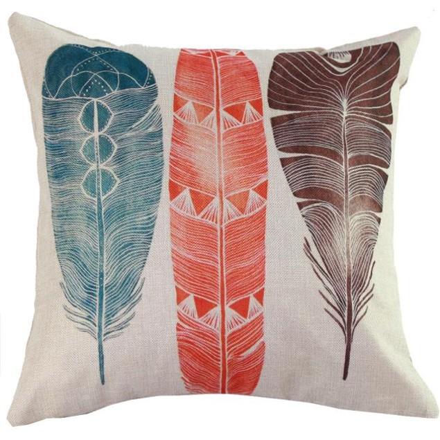 Peacock Sofa Bed Home Decor Pillow Case Cushion Cover
