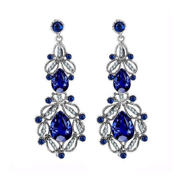 Novadab Violet Victorian Chandelier Earrings