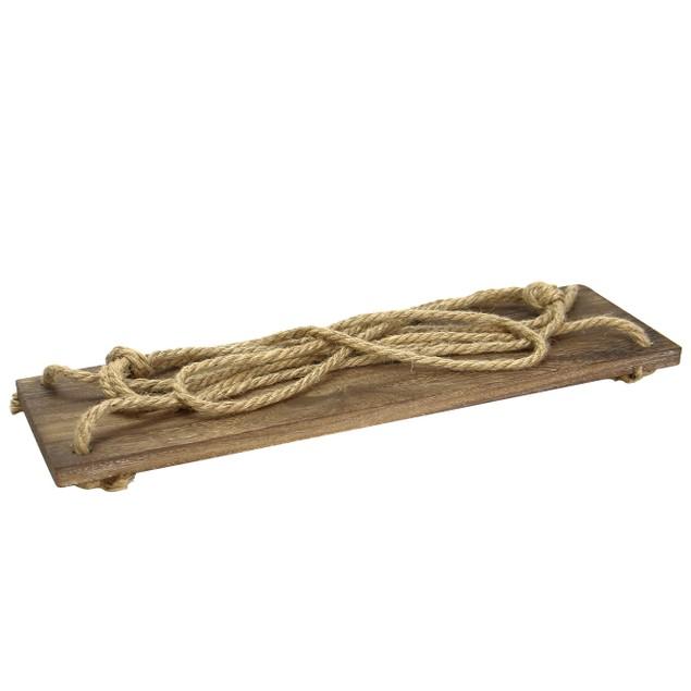 Wooden Hanging Shelf   MandW 1 Tier