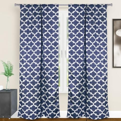 Duck River Textile Geometric Blackout Curtains - Assorted Colors