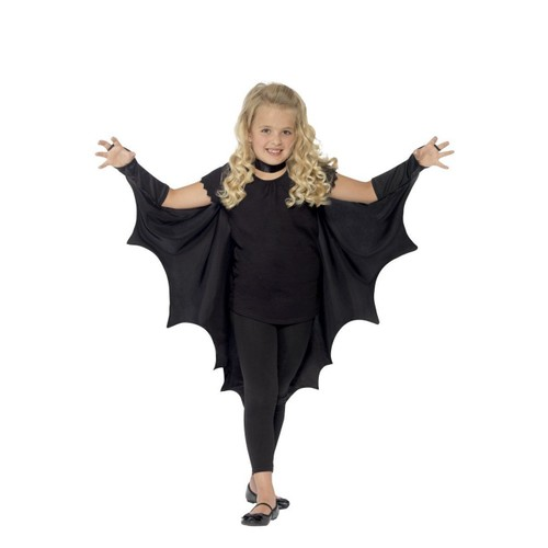 Kids Vampire Black Bat Wings