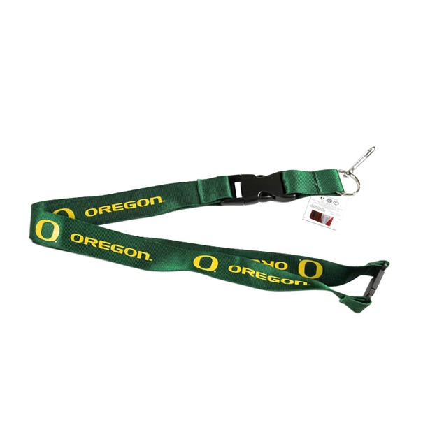 "Oregon Ducks ""O"" Clip Lanyard Keychain Id Ticket - Green"