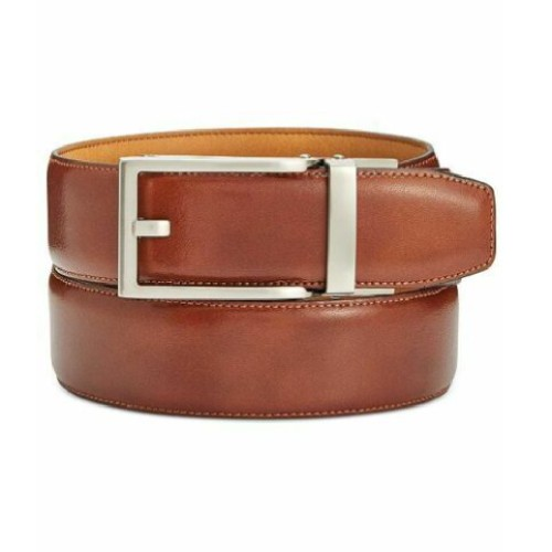 Ryan Seacrest Men's Distinction Exact Fit Belt Med Beige Size Small