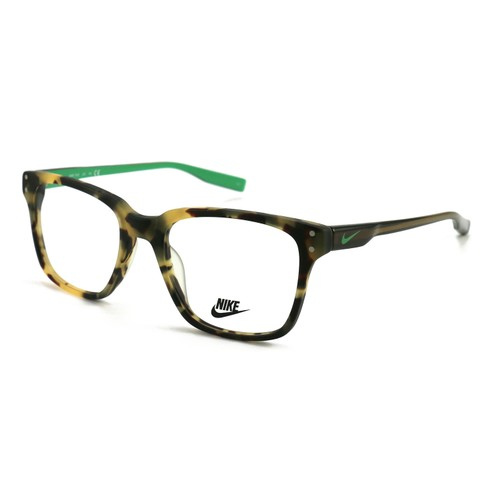 Nike Unisex Eyeglasses NK7232 225 Tokyo Tortoise/Green Glow 52 19 140 Full Rim