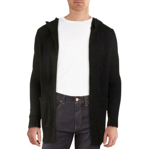 INC International Concepts Men's Hooded Cardigan Black Size Extra Small