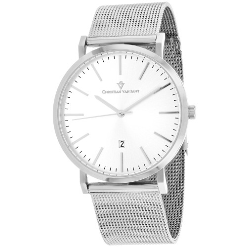 Christian Van Sant Men's Paradigm Silver Dial Watch - CV4323
