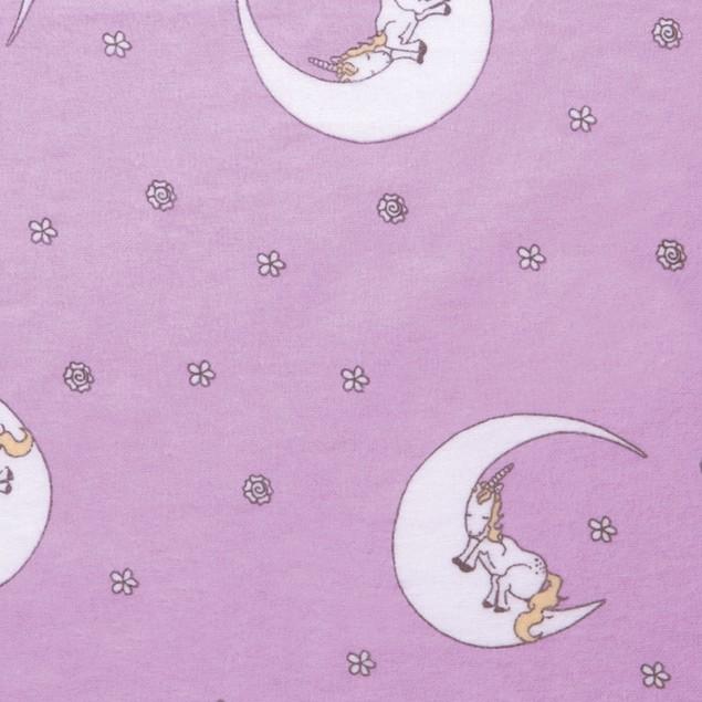 Trend Lab Unicorn Moon Deluxe Flannel Kids Crib Sheet