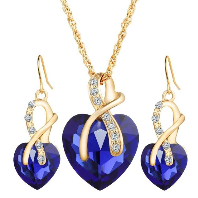 Ribbon Heart Jewelry Set