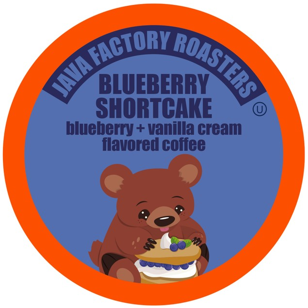 Java Factory Blueberry Flavored Coffee Pods, Blueberry Shortcake, 40 Count