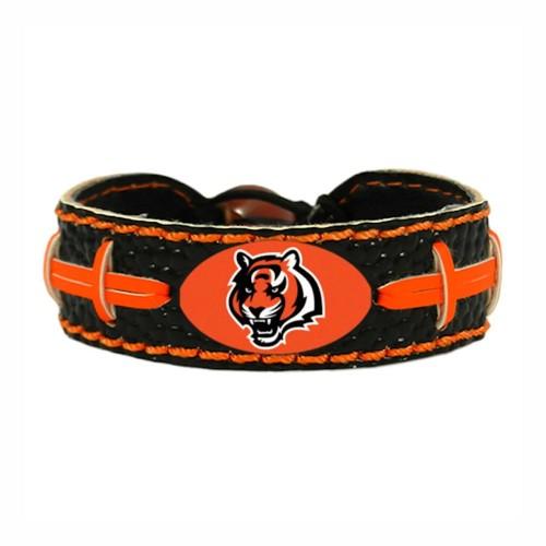 Cincinnati Bengals Team Color NFL Gamewear Leather Football Bracelet