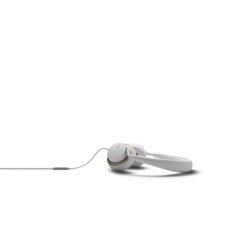 JAYS u-JAYS Headphones for iOS, White on gold (2017 edition)