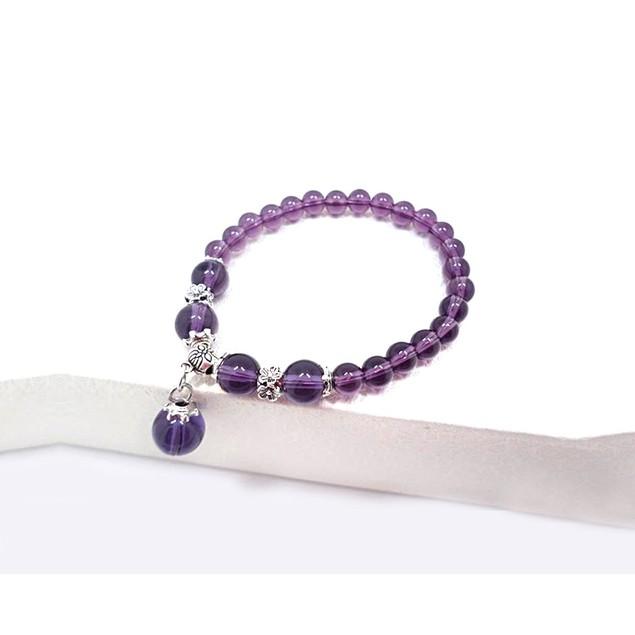 Novadab Mottling Luster Bead Bracelet with Hanging