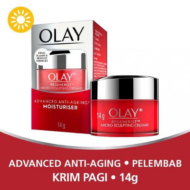 3-Pack Olay Regenerist Micro-Sculpting Cream, Advanced Anti-Aging Moisturizer, 14g (0.5 Oz)