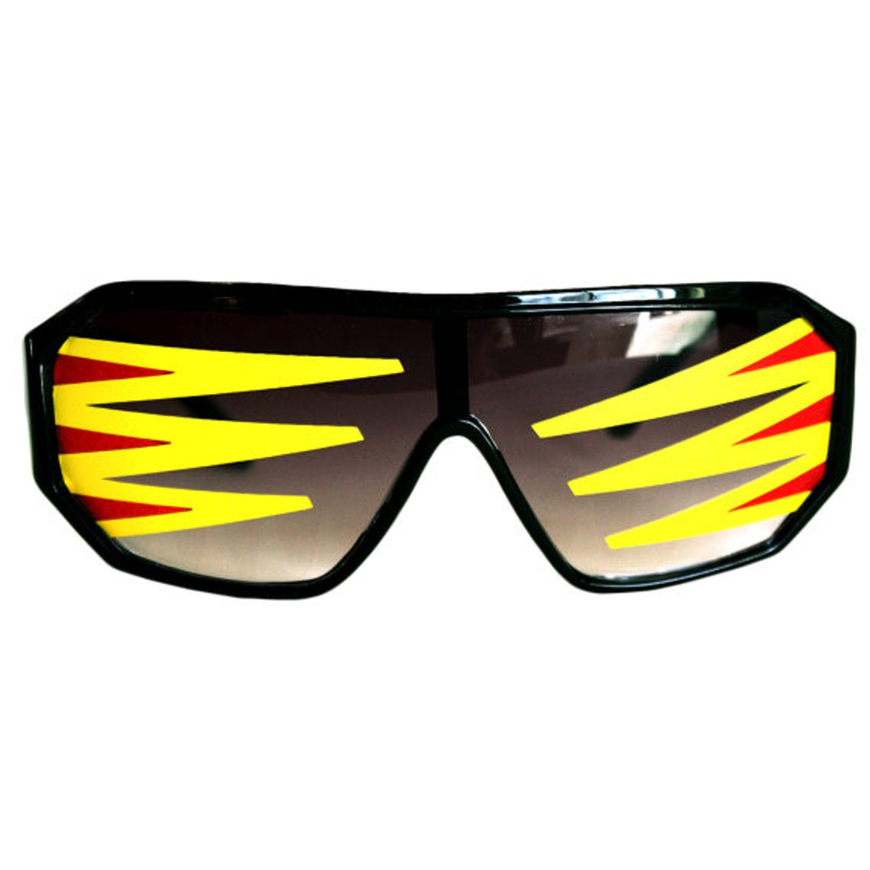 9cb5e39e7ba Rasslor Side Spikes Black Shield Sunglasses Macho Man Randy Savage Costume
