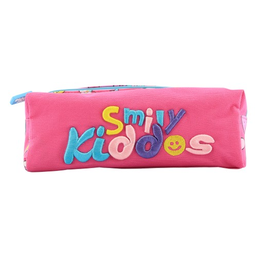 Smilykiddos Twin Zipper Pencil Pouch Pink