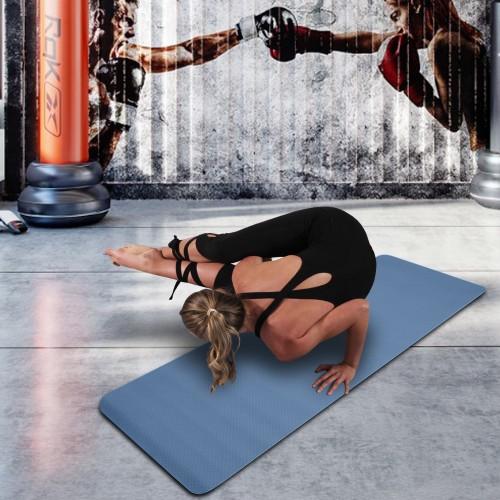 6mm Thick TPE Non-Slip Yoga Mat/Gym Mat (183x61x6cm) - 5 Colors