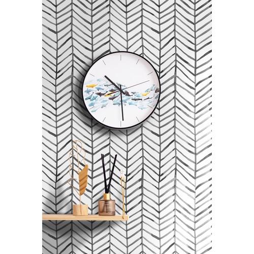 "96020-1 Modern Stripe Peel and Stick Wallpaper Herringbone 17.7""x 19.7ft"