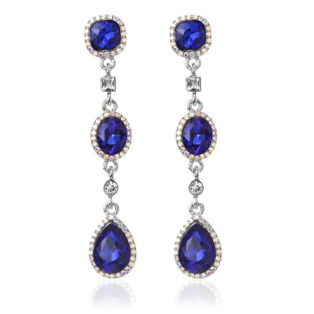 Novadab Duchess Emerald Crystal Lux Chandelier Earrings