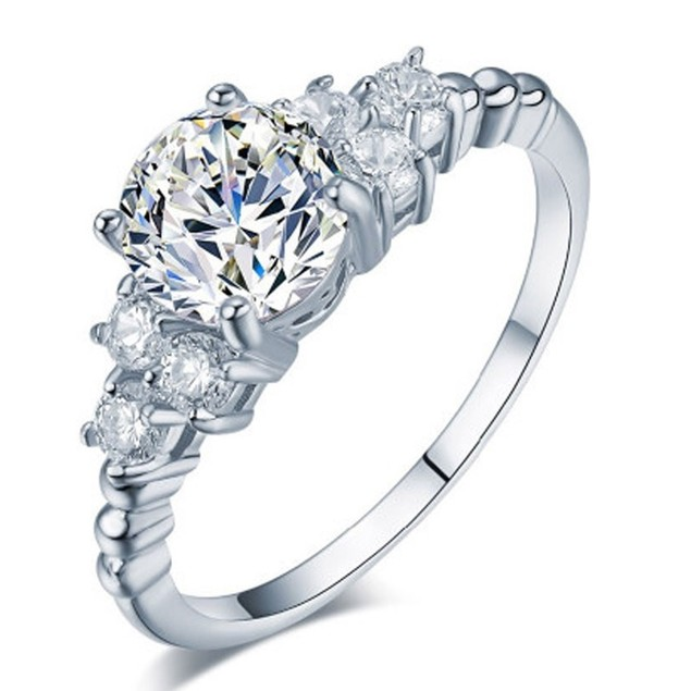 1.75 CTW Princess Cut Halo AAA+ Cubic Zirconia Ring Gift