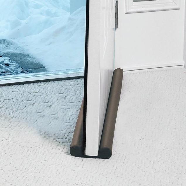 Jumbo Twin Draft Stopper Door Guard Energy Saver Doorstop