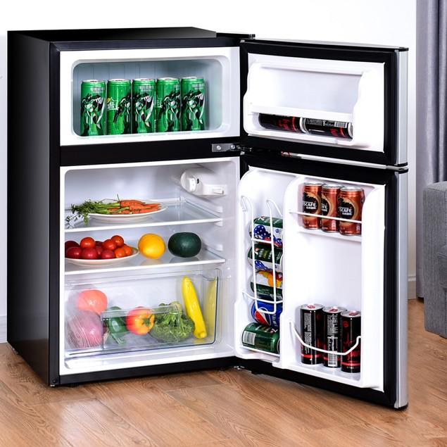 Costway  Refrigerator Small Freezer Cooler Fridge Compact 3.2 cu ft. Unit