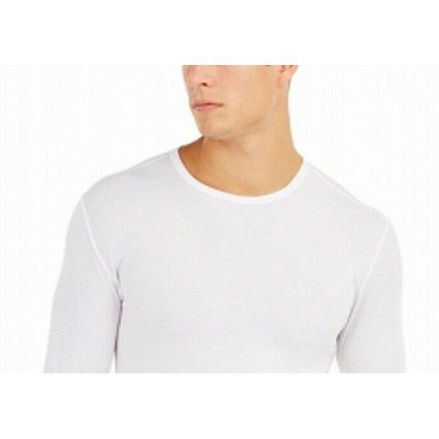 32 Degrees Men's Base Layer V-Neck Shirt White Size Medium