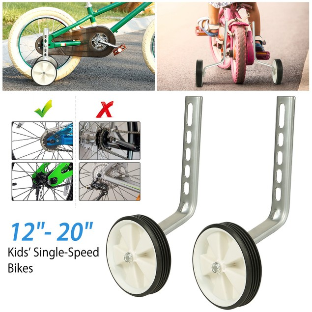 "Adjustable Kids Children Bike Stabilizer Wheel for 12""- 20"" Bike"