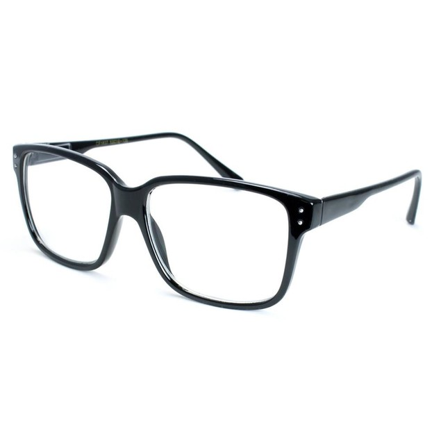 Eggsy Black Glasses With 2 Dots In Corners