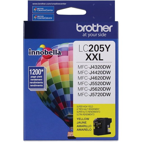 Brothers Brother Printer LC205Y Super High Yield Ink Cartridge, Yellow