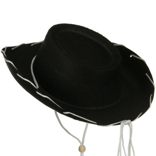 Black Felt Cowboy Child Hat