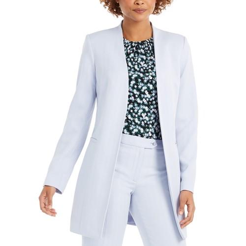 Calvin Klein Women's Open-Front Topper Jacket Blue Size 16